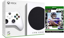 Microsoft Xbox Series S 512GB White Digital Console With Madden NFL 21 Game Bundle