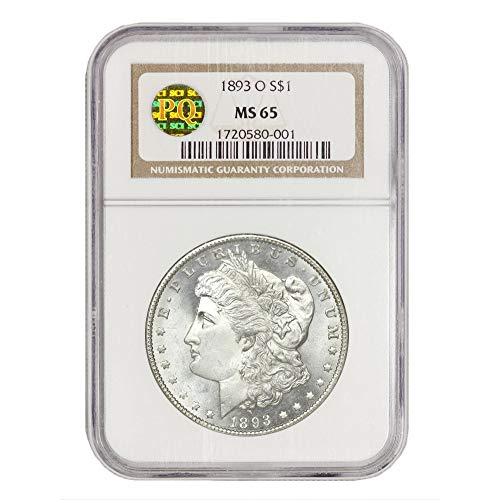 1893 O American Silver Morgan Dollar MS-65 PQ Approved by CoinFolio $1 MS65 NGC