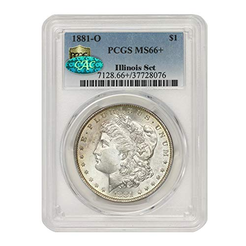 1881 O American Silver Morgan Dollar MS-66+ Illinois Set by CoinFolio $1 MS66+ PCGS/CAC