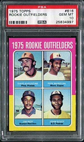 1975 Topps 616 Rookie Outfielders (Jim Rice RC HOF) PSA 10 25834997 – Baseball Slabbed Rookie Cards