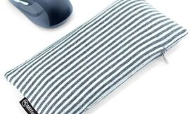 Bean Bag Wrist Rest for Carpal Tunnel – Ergonomic Beads Wrist Rest Pad – Mouse Wrist Cushion Computer Accessories for Carpal Tunnel Support and Arthritis Pain Relief (White Grey Wrist Pillow – Cotton)