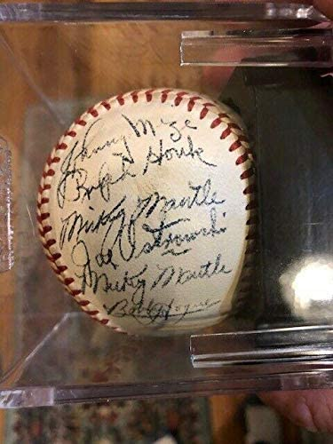 1951 Yankees Signed Off AL Ball Psa/Dna 7.5 No Clubhouse TWO MANTLE SIGS! GRAIL – Autographed Baseballs