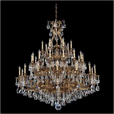 Sophia 35 Light Chandelier in Parchment Gold with Clear Spectra Crystal