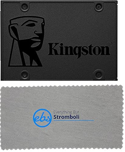 Kingston A400 SSD 960GB 2.5″ SATA 3.0 Internal Solid-State Drive Compatible with Gaming, PC, Laptop, Notebooks, and Computer (SA400S37/960G) Bundle with (1) Everything But Stromboli Micro Fiber Cloth