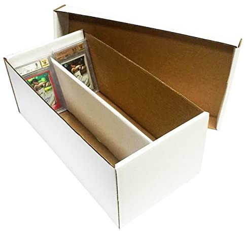 (8) Graded Shoe 2-Row Cardboard Storage Boxes – Baseball, Football, Basketball, Hockey, Nascar, Sportscards, Gaming & Trading Cards Collecting Supplies by MAX PRO – GSB