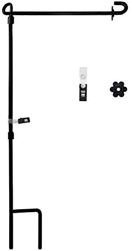 SPORT BEATS Garden Flag Holder Stand Yard Flag Pole with Garden Flag Stopper and Anti-Wind Clip Metal Powder-Coated Weatherproof Painting Steel