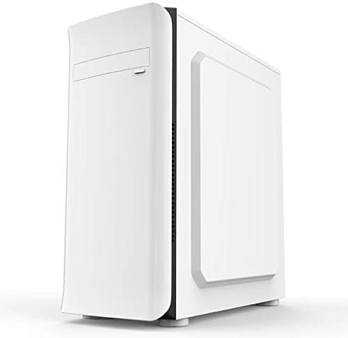 WSNBB Gaming Case, Mid-Tower ATX/M-ATX PC Gaming Computer Case,Tempered Glass,for Desktop PC Computer,White