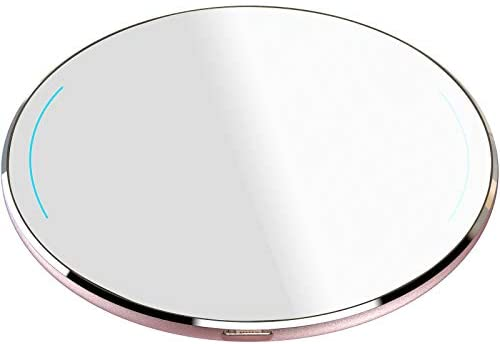 TOZO W1 Wireless Charger Thin Aviation Aluminum Computer Numerical Control Technology Fast Charging Pad Rose Gold (NO AC Adapter)