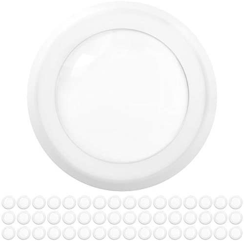 Sunco Lighting 48 Pack 5 Inch / 6 Inch Flush Mount Disk LED Downlight, 15W=100W, 5000K Daylight, 1050LM, Dimmable, Hardwire 4/6″ Junction Box, Recessed Retrofit Ceiling Fixture