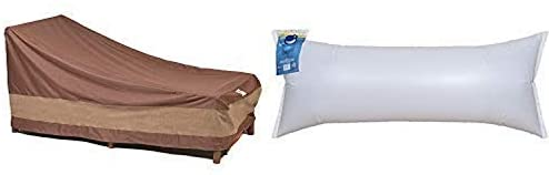 Duck Covers Ultimate Patio Chaise Lounge Cover, 80-Inch with Duck Dome Airbag, 60″L x 24″W