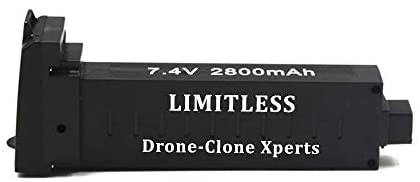 DRONE-CLONE XPERTS – X Pro Limitless 4K GPS 5G WiFi Quadcopter Battery 7.4V 2800mAh Intelligent 25min Flight Time RC Spare Parts