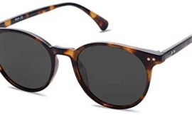 SOJOS Small Round Classic Polarized Sunglasses for Women Men Vintage Style UV400 Lens MAY SJ2113
