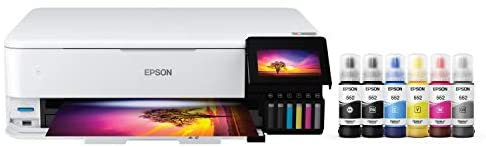 Epson EcoTank Photo ET-8550 Wireless Wide-Format Color All-in-One Supertank Printer with Scanner, Copier, Ethernet and 4.3-inch Color Touchscreen