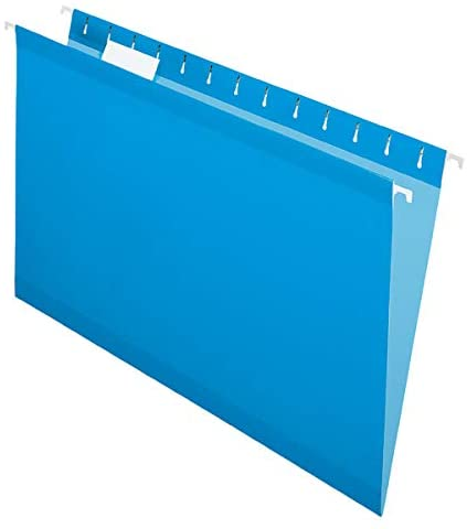 Office Depot Hanging Folders, 15 3/4in. x 9 3/8in, Legal Size, Blue, Box of 25, ESS81623