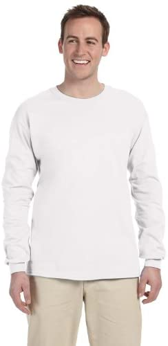 Fruit of the Loom Mens 5 Oz. Hd Cotton Long-Sleeve T-Shirt