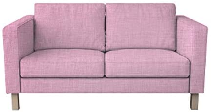 MastersofCovers Thick Polyester Snug Fit Karlstad 2 Seat Sofa Cover Love Seat Slipcover for The IKEA Karlstad Cover Replacement