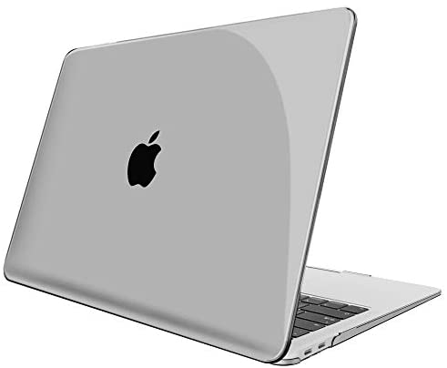 Fintie Case for MacBook Air 13 Inch A2337 (M1) / A2179 / A1932 (2020 2019 2018 Release) – Protective Snap On Hard Shell Cover for New MacBook Air 13 Retina Display with Touch ID, Crystal Gray