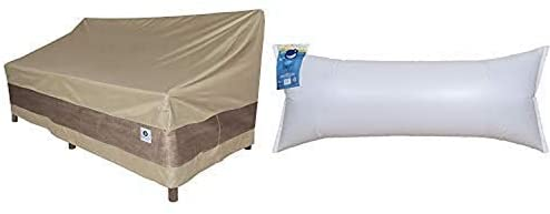 Duck Covers Elegant Patio Loveseat Cover, 70-Inch with Duck Dome Airbag, 60″L x 24″W