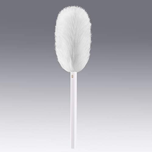 Extendable Lambswool Duster for Cleaning, able to Retract The Wool Part into The Plastic Pipe