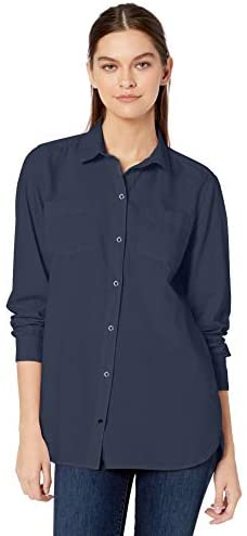 Amazon Brand – Goodthreads Women's Lightweight Twill Two-Pocket Relaxed Shirt