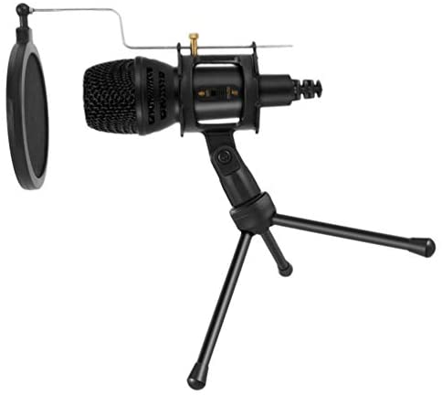 ARTIBETTER Professional USB Microphone Wired Studio Mic Condenser Recording Broadcasting with Stands Reverberation Echo Function