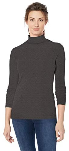 Amazon Essentials Women's Classic-Fit Long-Sleeve Mockneck Top