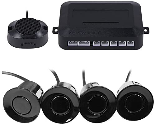 Frostory Car Reverse Backup Parking Sensor Radar System, Buzzer beeps, Detection Distance:30~150CM, Waterproof Sensors (22mm Diameter 2.3M Cable) 4 Packs X60D (Black)