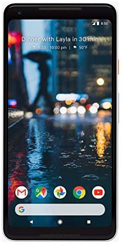Google Pixel 2 XL Unlocked GSM/CDMA – US warranty (Black and White, 128GB) (Renewed)