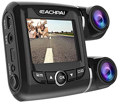 EACHPAI Car Dash Cam,Dual Dash Cam FHD 1080P+1080P Front and Rear View 2″ LCD 140 Degree Wide Angle Super Capacitor Dashboard Camera Recorder with Sony Exmor Video Sensor, G-Sensor, Loop Recording,GPS