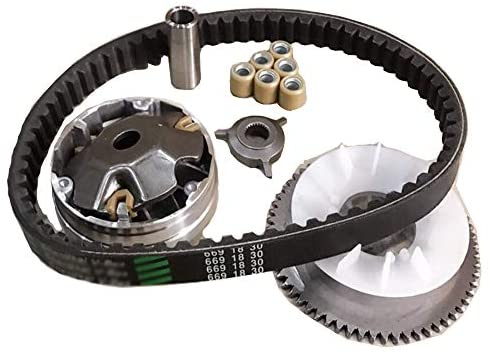 Amhousejoy Variator Belt Drive Set Fit for GY6 4Stroke 49cc 50cc Chinese Scooter 139QMB