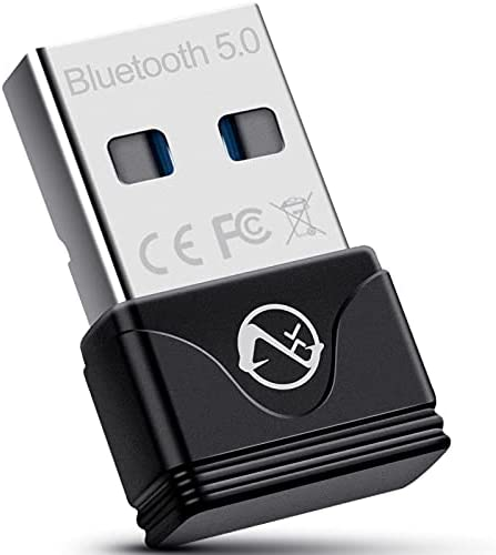 Bluetooth 5.0 Adapter for PC, ZEXMTE Mini Bluetooth USB Dongle Computer Bluetooth Adapter for Computer Bluetooth Headphones Speakers Keyboard Mouse Printer Windows 10/8.1/8/7
