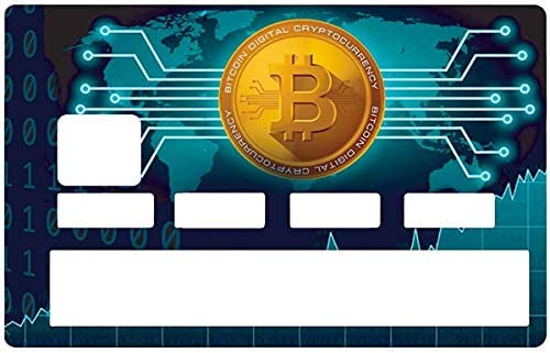 DECO-IDEES Credit Card Sticker – Bank Card, Bitcoin, by Dgedenice – Personalize Your Credit Card with These Removable Stickers