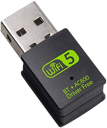 Ovker USB WiFi Bluetooth Adapter, 600Mbps Dual Band 2.4/5Ghz Wireless Network Card External Receiver, Mini WiFi Dongle for PC/Laptop/Desktop