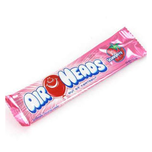 Pink Strawberry AirHeads Chewy Taffy Candy Bars 2 Count