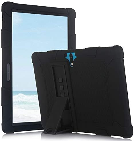 AKNICI 10 Inch Tablet Silicone Case Compatible with MEBERRY 10″ Inch M7/AOYODKG A22 10/Pavoma 10 G3/Llltrade 10, MEBERRY M7 Protective Case Shockproof Silicone Cover, Black