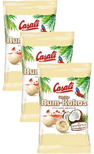Casali Rum-Kokos White Chocolate Dragees 3-Pack