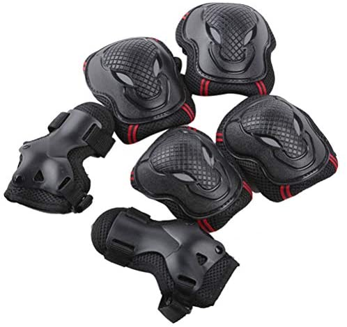 zuoshini Protective Gear Set, Knee Pads Elbow Pads Wrist Guards 6pcs/Set Skateboarding Protective Gear Set for Skateboarding Roller Skating Cycling Scooter