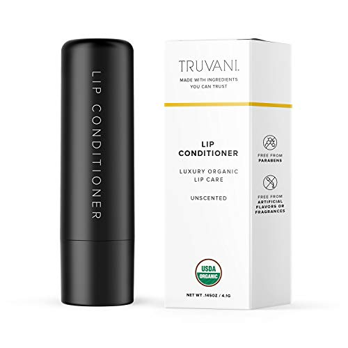 Truvani Organic Lip Conditioner | Moisturizing, Clean and Organic Ingredients | Paraben Free and Free of Artificial Flavors | Unscented
