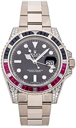 Rolex GMT-Master II Mechanical(Automatic) Black Dial Watch 116759SARU (Pre-Owned)