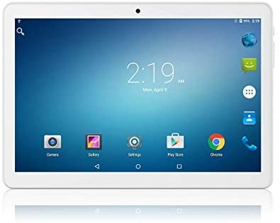 Tablet 10.1 inch Android Go 8.1 Tablet PC,Google Certified, 1GB RAM, 16GB Storage, WiFi, Bluetooth,GPS, 1280X800 IPS Screen, 3G Phablet with Dual Sim Card Slots,Dual Camera (Renewed)