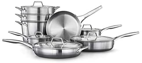Calphalon Premier Stainless Steel Pots and Pans, 13-Piece Cookware Set