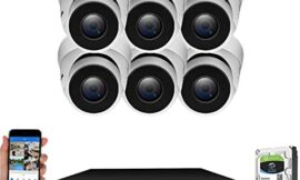 GW Security 8 Channel Smart AI PoE NVR Ultra-HD 4K (3840×2160) Security Camera System with 6 x 4K (8MP) 2160P Face Recognition/Human/Vehicle Detection Waterproof Microphone IP Dome Camera