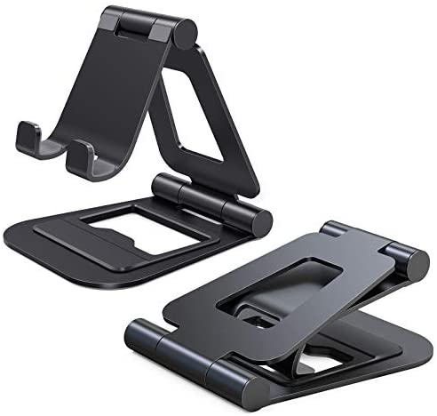 Nulaxy iPad Stand, Tablet PC Stand, Smartphone Stand, Foldable, Aluminum Nintendo Switch Stand, Compatible with 4.7-13 inch, Compatible with iPad Pro, Air, Mini, iPhone, Kindle Nexus, A5 (Black)
