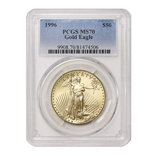 1996 1 oz American Gold Eagle MS-70 by CoinFolio $50 MS70 PCGS