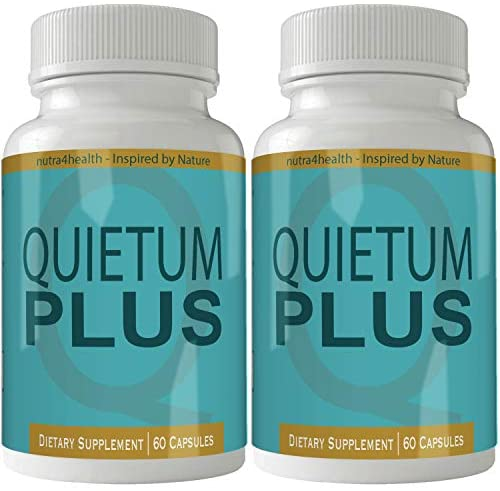 Quietum Plus Complete Tinnitus Relief Supplement, 2 Bottle Pack 120 Capsules, Proprietary Blend to Reduce Ear Ringing and Support Optimal Hearing Function and Clarity