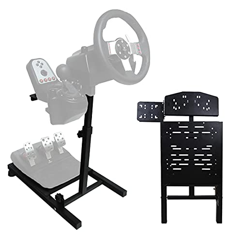 Eilsorrn Racing Steering Wheel Stand Foldable & Height Adjustable Gaming Wheel Stand for Logitech,Thrustmaster,Xbox,Playstation,PC Platform(Wheel&Pedals Not Included)