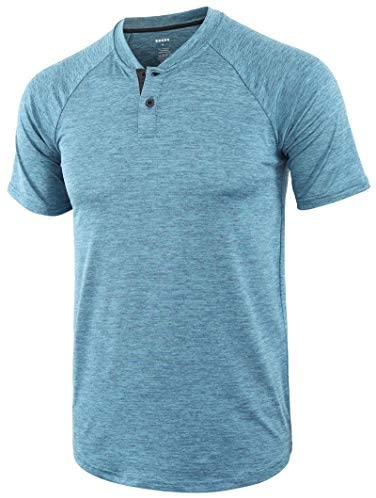 KNQR Men's Lightweight Vintage Quick Dry Athletic Active Outdoor Hiking T-Shirt