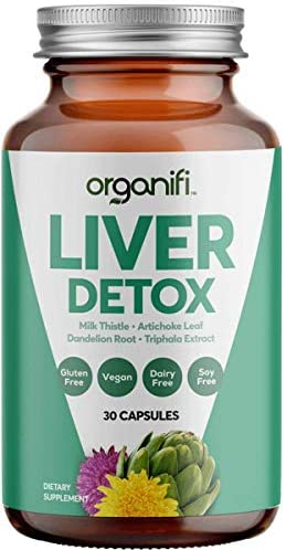 Organifi: Liver Detox – Herbal Liver Detox and Support – 30 Day Supply – Optimal Levels Balance – Digestive and Immunity Support