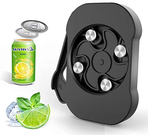 Topless Can Opener Handheld-Safety Easy Manual Beer Can Opener with Locking Feature- Smooth Edge-Professional Effortless Portable Food Grade Stainless Steel Top Openers(fits 8-19 oz Beverage Cans)