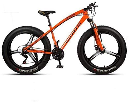 Tbagem-Yjr Absorption Mountain Bicycle – Dual Suspension Mountain Bikes Sports Leisure Mens MTB (Color : Orange, Size : 30 Speed)